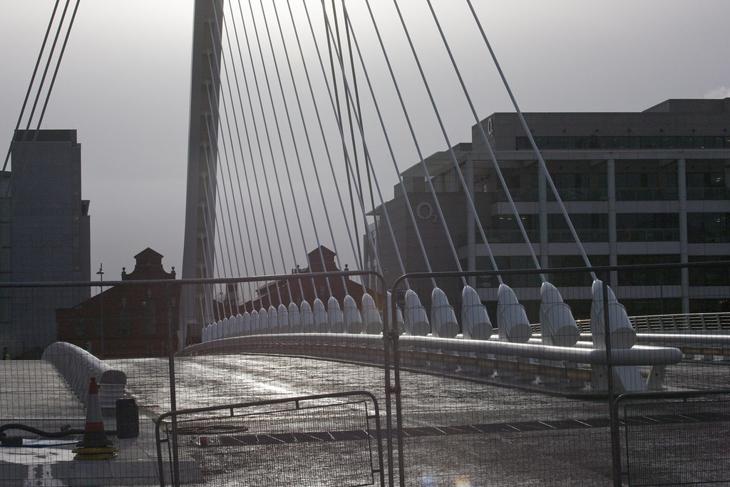 The Samuel Beckett, is expected to open to pedestrians on 10 December 2009