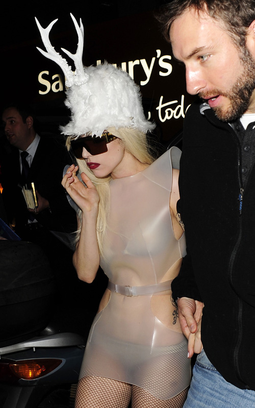 Lady Gaga Returning To Her Hotel In London (USA AND OZ ONLY)