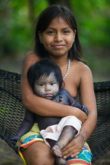 sisters embera panama (martibrown1photo) Tags: indian panama tribe tatoo embera indio indigenous centralamerica jagua lachunga