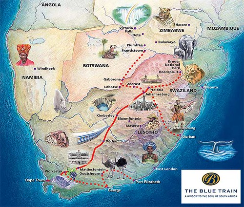 Blue Train (South Africa) - map