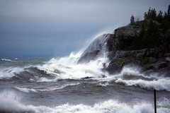 Lake Superior Escaping Itself (PhotoYoop) Tags: storm nature landscape cool fantastic rocks waves artistic top michigan unique oneofakind awesome rad stock creative best professional glorious neat upperpeninsula epic tops lakesuperior thebest crashing thegreatoutdoors professionalphotography digitalmedia genovese bestpics godscreation bestphotos stormysea topshots topphotos stockimagery michiganoutdoors thebestphotosonflickr welcometomichigan glap picturesofmichigan puremichigan alltimebest photoyoop selftaughtprofessional