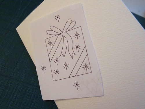Embroidered xmas cards