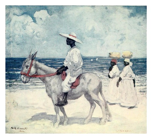 022-En la playa en Barbados-The West Indies 1905- Ilustrations Archibald Stevenson Forrest