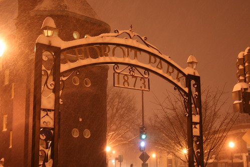 LeDroit Park Gate in Snow