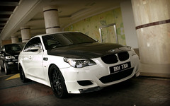 Vorsteiner M5 (anType) Tags: white black sports car race sedan germany asia racing german malaysia bmw hood kualalumpur carbon fiber rims luxury m5 v10 vrs fibre e60 vented vorsteiner