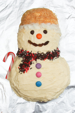... - Coconut & Citrus Snowman Cake and Coconut Jam Thumbprint Cookies