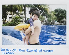 XA scared of water. . . :p (NPNG!) Tags: fujifilm xa analogphotography instantcamera instantimage fujiinstax200 widefilm