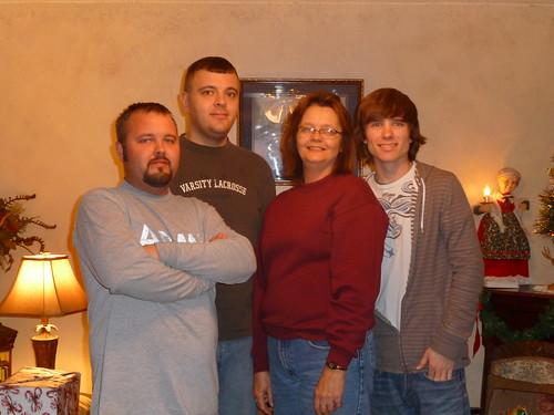 Brother's with mom: Ryan, Garrett, Mom & Blake