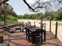 Lounge deck at Rhino Post Lodge