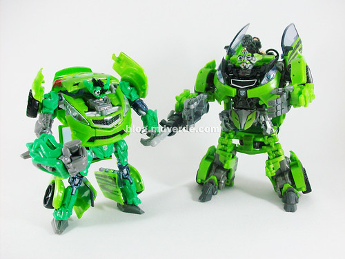 Transformers Skids RotF Human Alliance vs Deluxe - modo robot