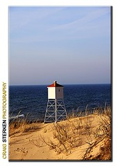 November Beach (Craig - S) Tags: blue chimney lighthouse cold beach water grass station sand solitude waves michigan dune windy structure lakemichigan clear crisp lone chilly breezy secluded brisk dene ludingtonmichigan wintercoatand earmuffsrequired notaspleasentasitappears