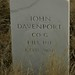 Headstone of Mexican War Veteran John Davenport, Boise Barracks Military Cemetery, Boise, Id.
