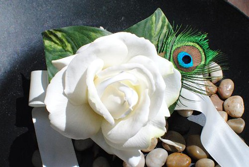 Real Touch White Caroline Rose Corsage