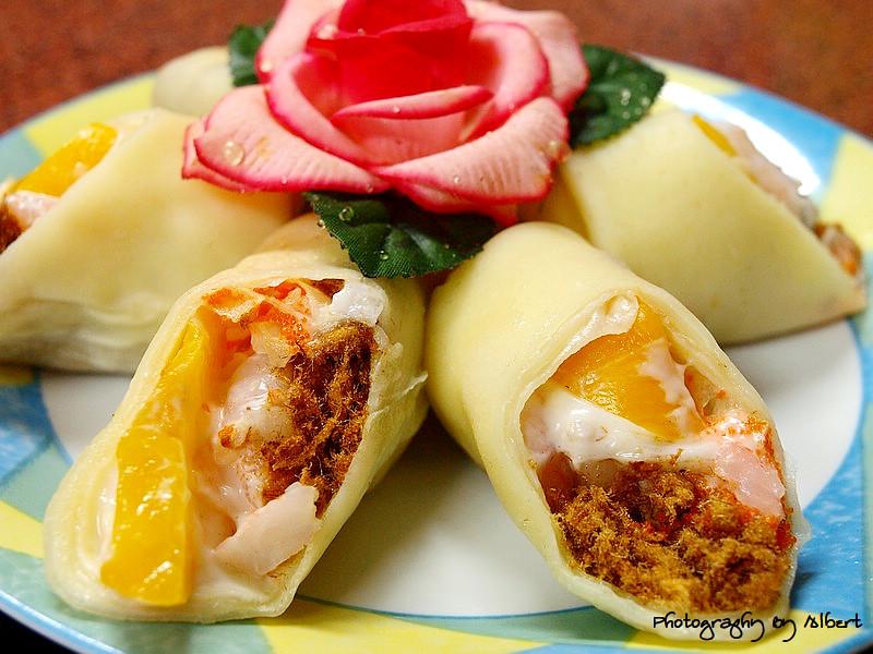 嘟嘟美食館:水蜜桃蝦卷