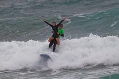 Tandem Surfing (Craig Jewell Photography) Tags: winter beach surf waves surfer manly sydney wave overcast australia competition malibu tandem f50 northsteyne iso640 surfingcontest 13200sec ef500mmf4lisusm canoneos1dmarkiv cpjsm craigjewellphotography