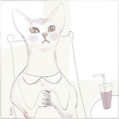a face a day_061 (red cheeks factory) Tags: summer face illustration cat praying afaceaday