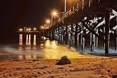 Goleta Beach Pier (debargephoto) Tags: california santa ca longexposure beach lights pier sand waves barbara nighttime goleta sba d300s bobbydebarge wwwdebargephotocom