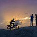 Bicycle & Kids at Sunset