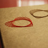 Red And Brown Hand Embroidered Moleskine Cahier