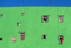 Holes mean homes (steverichard) Tags: blue windows urban color colour building green art contrast ventana clothing havana cuba vieja aerial line wash laundry caribbean habana washing kuba cubana cabano goldstaraward steverichard dwwg