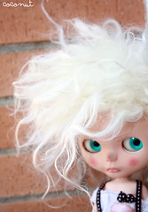 Indie (------coconut) Tags: make up doll playa carving skate mohair angry blythe date custom canet sbl cejas esculpidas