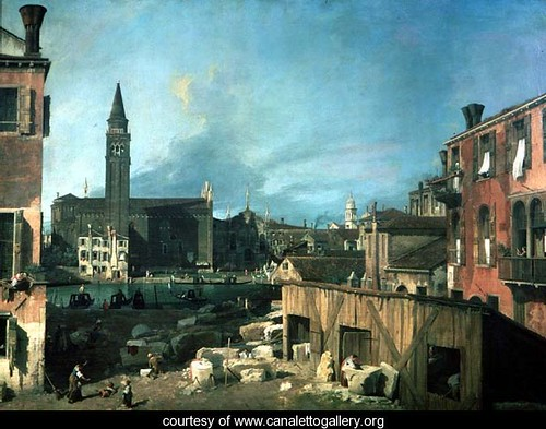 Canaletto, The Stonemason's Yard