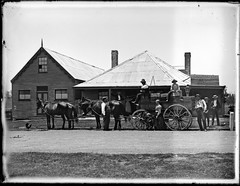 Matthew H Norths Sportsmans Arms Hotel, Greta, NSW, 23 December 1900 (Cultural Collections, University of Newcastle) Tags: hotel pub north australia nsw 1900 greta sportsmansarms ralphsnowball snowballcollection ralphsnowballcollection sportsmansarmshotel asgn0653b28 matthewnorth nswaeratedwaterandcoltd nswaeratedwater newcastleregionnswhistorypictorialworks hotelsnewsouthwales photographynewsouthwalesnewcastle