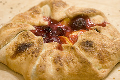 Peach and Cherry Galette 4