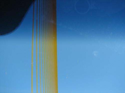 the top of the Sunshine Skyway Bridge