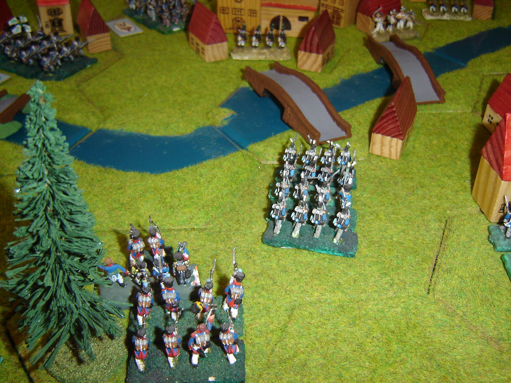 Second French column marches towards Bierge Mill