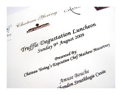 Truffle Degustation @ Chateau Yering© by Haalo