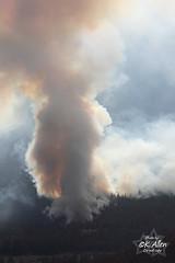 Della Creek (Fire 951) Back burn Aug 12 2009 (KansasA) Tags: mountain water weather fire cabin forestry smoke flames equipment helicopter buckets lightning skidder dellacreek intlpam fire951 intipam
