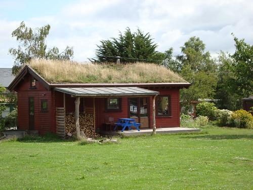 telhado verde na Findhorn by jardineiro descalço