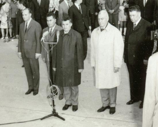 Ceausescu si demnitari comunisti la Ploiesti