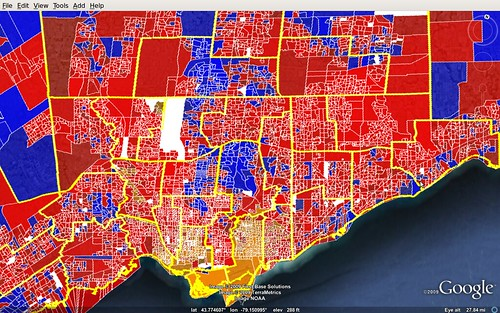 Toronto - map of 2008 federal election results