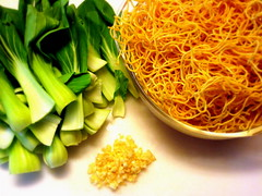 Ingredients for Chinese Pan-Fried Noodles
