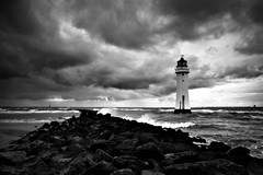 (andrewlee1967) Tags: uk sea england sky lighthouse beach clouds liverpool coast waves britain tide overcast stormy gb 20mm newbrighton sigma1020mm andrewlee 50d mywinners andrewlee1967 perchrock canon50d aplusphoto