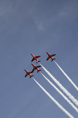 The Red Arrows in Jersey