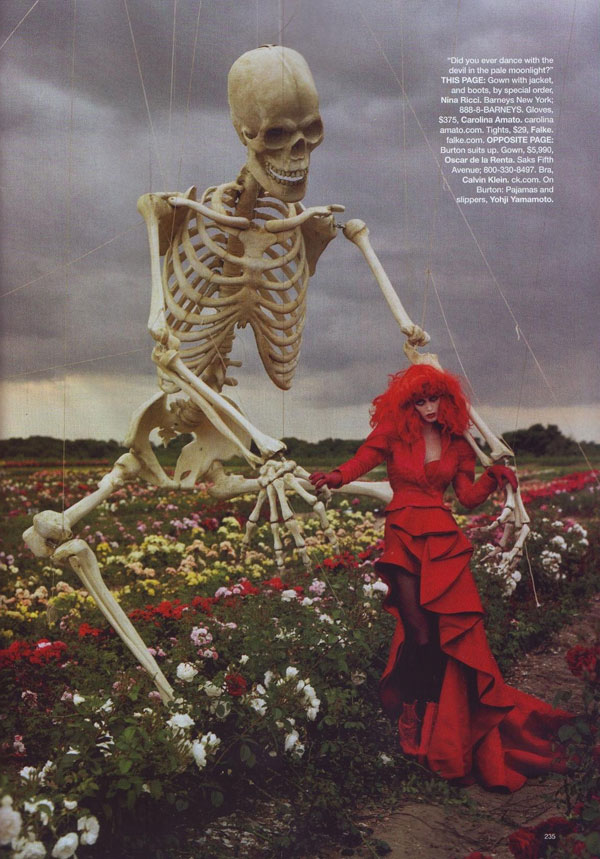"""Tim Burton's Tricks and Treaks"" by Tim Walker"