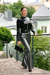 shiny moniree black and silver pvc 27 (shiny moniree 8) Tags: girls black hot sexy girl silver shiny latex pvc hottist moniree