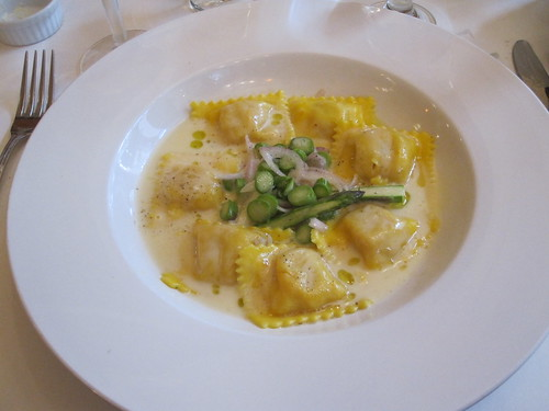 Lobster raviolis from Holder's