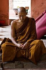 Deep Meditation In Bodhgaya (El-Branden Brazil) Tags: india asian asia buddha religion buddhism monks meditation spirituality robes zazen bodhgaya mysticism mahabodhi