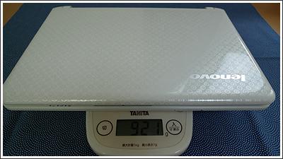 IdeaPad S10-2 本体の重さ