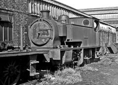 Hunslet 0-4-0T 1557 NCB Walkden JESSIE 20 Sept 1964 (pondhopper1) Tags: blackandwhite white black steam railways ncb uksteam 040t
