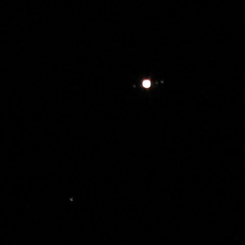 jupiter and its moons - 300 mm lens