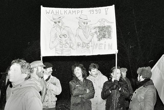 Montagsdemo Leipzig 8. Januar 1990
