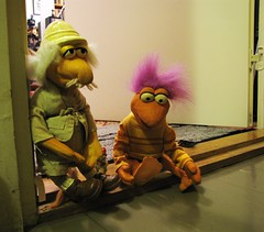 I'm leaving ~ me too...to the Fraggle Rock! (Hannhell) Tags: cute leaving toys funny dolls tvshow fragglerock gobo fraggles kidstv 365toyproject ungletravelingmatt