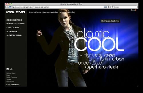 Blend consumer website 2009