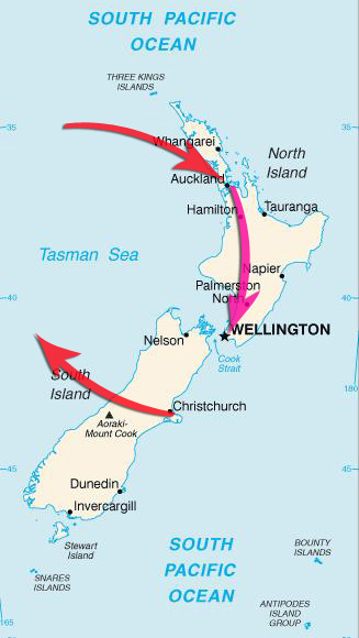 grand plan of New Zealand trip