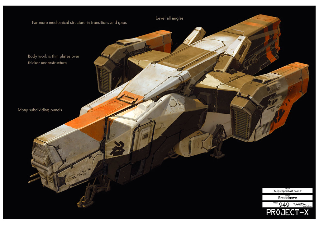Boceto Sector 9 Dropship model